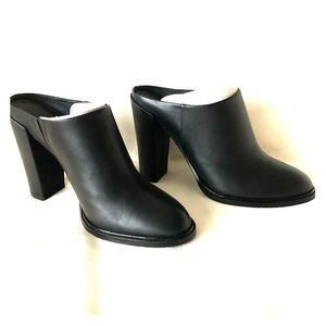 Kenneth Cole - Mule-inspired black leather Bootie